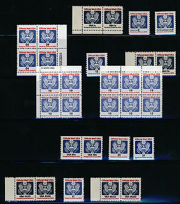 USA - Official Mail stamps  Face Value $16.50+ all MNH