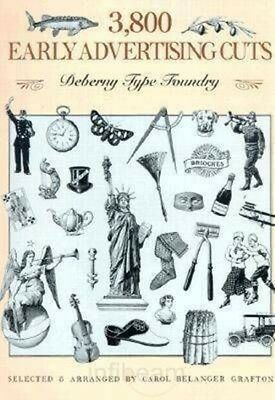 3,800 Early Advertising Cuts by Dover Publications Inc Paperback Book (English)