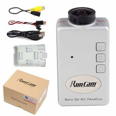 RunCam HD 1080P Wide Angle 120 degree FPV Camera (SILVER) : Racing Quad Drones