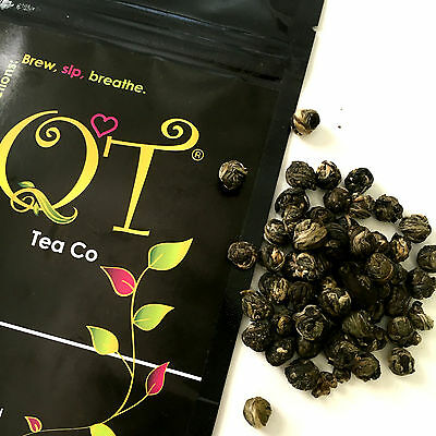 Buddhas Tears 100g Finest Jasmine Pearls Loose Leaf Green Tea