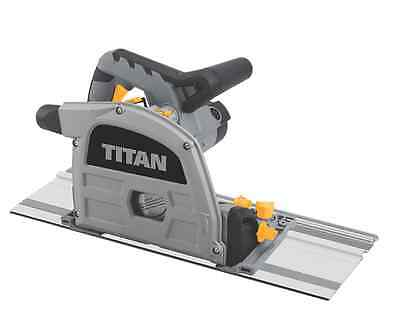 Titan Circular Plunge Track Saw 165mm + 1.4m Guide Rails 1200W 24 Tooth TCT Feat