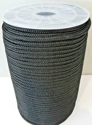 14mm x 100m Polyester Rope Double Braided Black - 4300kg Sailing Mooring Yacht