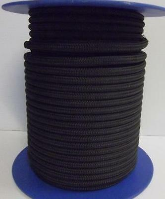 12mm x 50m Polyester Rope Double Braided Black - 3150kg Sailing Mooring