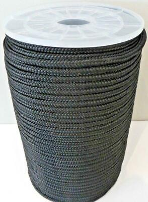 10mm x 100m Polyester Rope Double Braided Black - 2425kg Sailing Mooring