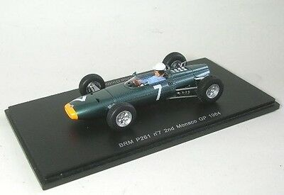 BRM P261 #7, Ginther 2nd 1964 Monaco GP Formula One, Spark S1157  Resin 1/43 NEW