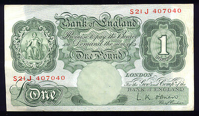 1 Pound   ~~  P-368c  ~~  Bank of England Bank Note (852-101)