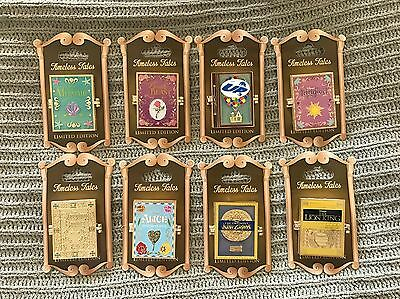 Disney Timeless Tales Pins Set Of 8 WDW And DLR Tangled Little Mermaid Up Alice