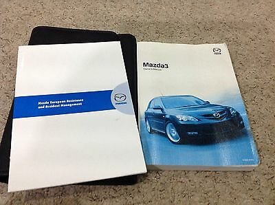 MAZDA 3 OWNERS MANUAL HANDBOOK 2006-2009  Inc wallet and COVERS AUDIO