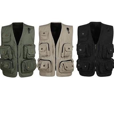 Multi Pocket Jacket Mesh Vest Waistcoat Fishing Work Tool Tactical Hunting Cargo