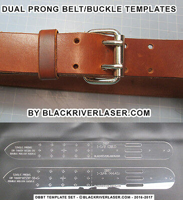 """2 Piece 1-1/2"""" & 1-3/4"""" Belt Ends Template For Dual Prong Buckles - 2017  Dbbts"""