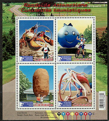 Canada #2484 Roadside Attractions Souvenir Sheet MNH