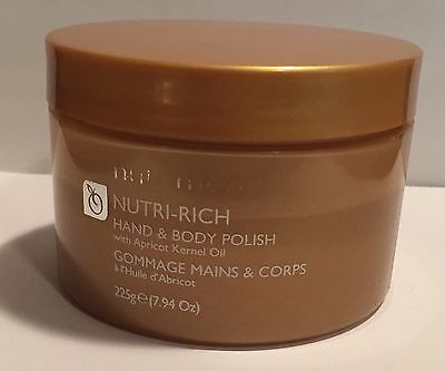 Nutrimetics Hand And Body Polish With Apricot Kernel Oil New