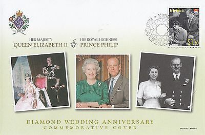 (95493) Kiribati FDC Queen Elizabeth II Diamond Wedding 2007