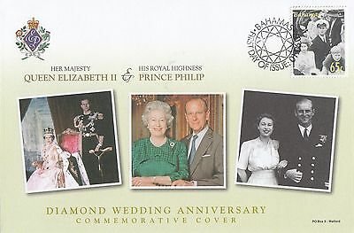 (95507) Bahamas FDC Queen Elizabeth II Diamond Wedding 2007