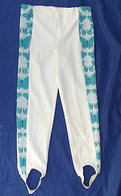 Girls stirrup leggings Age 6 BUTTERFLY Vintage 1970s UNUSED SLACKS trousers