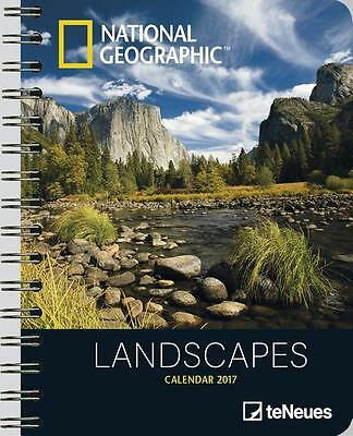 AGENDA - NATIONAL GEOGRAPHIC - LANDSCAPES - 2017 - DELUXE - 16.5 x 21.6 cm