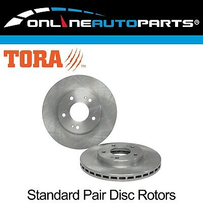 2 Front Disc Brake Rotors Magna TR TS TE TF TH TJ TL TW V6 Sedan Wagon FWD Pair