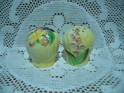 Carlton Ware England Yellow Apple Blossom And Foxglove Spare Pepper Shakers - Af
