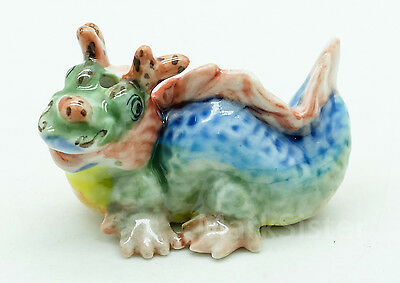 Figurine Animal Ceramic Incense Holder Dragon - ich006