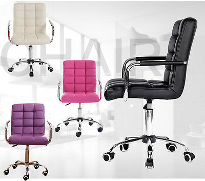 High Back Swivel Executive Office Chair PU Seat Adjustable Computer Desk Chair