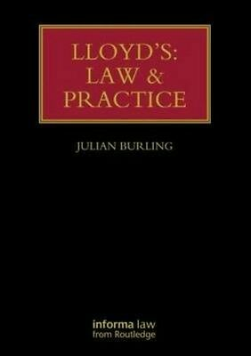 Lloyd's: Law and Practice by Julian Burling Hardcover Book (English)