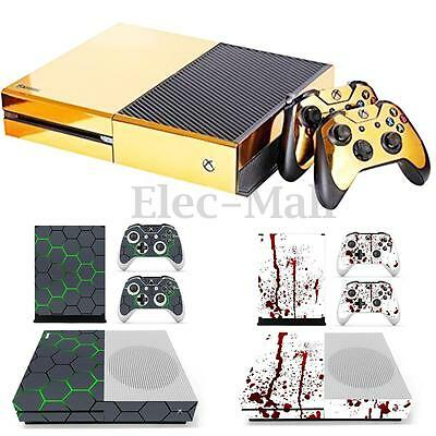 Vinyl Decal Skin Stickers Cover Protector for Xbox One S Console & 2 Controllers