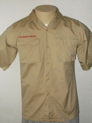 Boy Scouts Of America Beige Official Uniform Shirt Youth Large