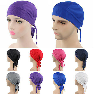 Bike Bicycle Sweat Proof Hat Headband Riding Cycling Pirate Scarf Cap Headscarf
