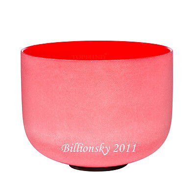 432 Hz Perfect Pitch C Root Chakra Red Colored Frosted Crystal Singing Bowl 8""
