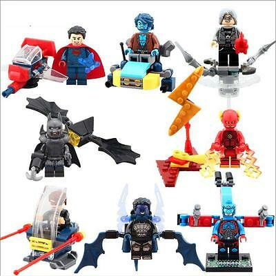 8 Sets Super Heroes Minifigures Cyclops Quick Silver Flash Beast Blocks Toy DR