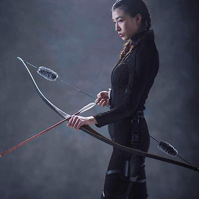 Archery Traditional Longbow Handmade Wooden Right Hand Riser Hunting Recurve Bow