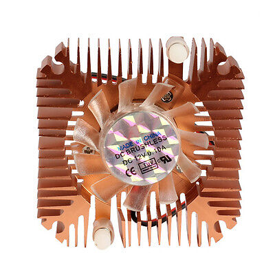 Mini Professional 55mm Cooler Cooling Fan for CPU VGA Video Card Bronze