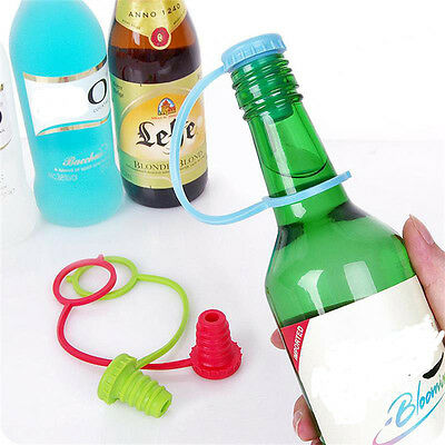 Anti-lost Silicone Bottle Stopper Cork Hanging Button Red Wine Beer Cap Plug OZ