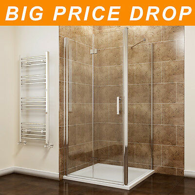 Bifold Shower Enclosure Door With Tray Cubicle 6mm Glass Screen Free Waste