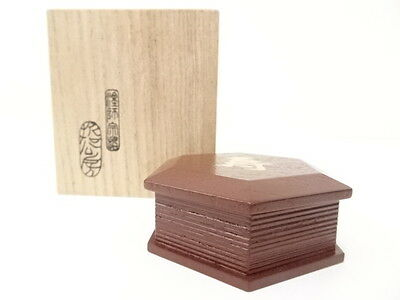 2688996: Japanese Tea Ceremony / Kogo (Incense Container) / Tame Lacquer / Hexag