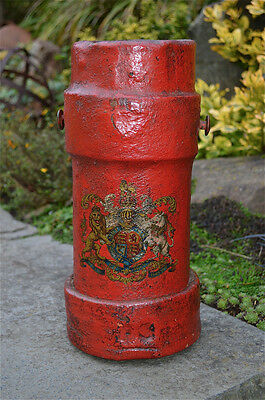 Antique military powder carrier British coat of arms lion unicorn c.1890