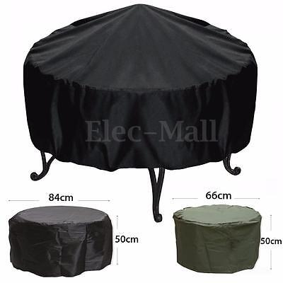 84x50cm/66x50cm Waterproof Garden Patio Firepit Fire Pit Cover Protector Shelter