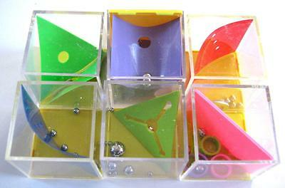 Bulk Lot x 12 Mixed Metal Ball & 4cm Cube Game Puzzles Kids Novelty Toys