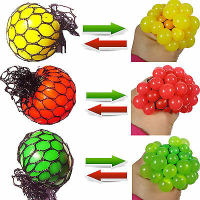 COOL Funny Anti Stress Face Reliever Grape Ball Autism Mood Squeeze Relief Toy