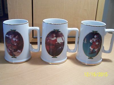 Coca Cola Collectors Christmas 3 Mugs Steins Must See