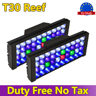 2PCS 165W Dimmable LED Aquarium Reef Lighting Full Spectrum Coral Marine SPS LPS