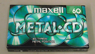 Maxell Metal CD C60 type IV 4 position new blank audio cassette tape