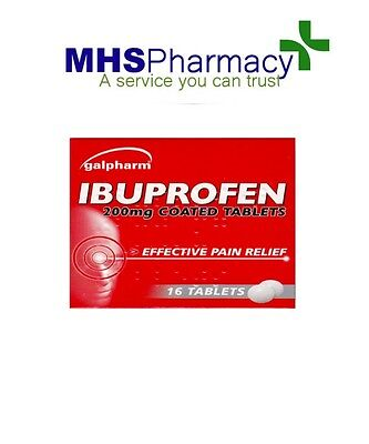 6 packs Ibuprofen 200mg 16 tablets per pack, pain relief, anti inflammatory,