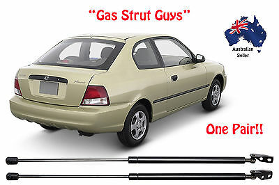 Hyundai Accent Gas Struts Hatch Back Rear Lc Lc2 1999 To 2005 New Pair