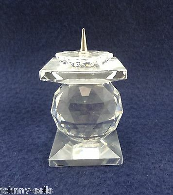 """Swarovski Crystal Pin Style Candle Holder 2 3/4"""" Signed Retired 1970s-80s"""