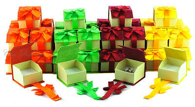 Lot Of 48 Mix Ring Boxes Jewelry Gift Box Showcase Display Magnetic Ribbon Boxes