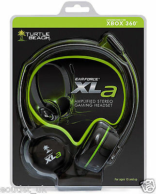 Turtle Beach Ear Force XLa Amplified Stereo Gaming Chat Headset For Xbox 360 NEW