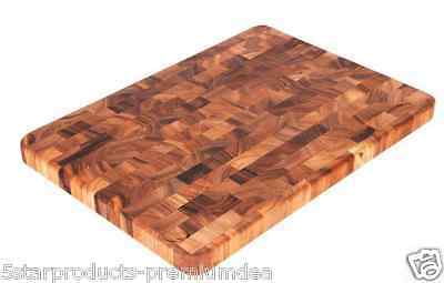 New Ironwood Gourmet Large End Grain Prep Station Acacia Wood Chopping Board Cut