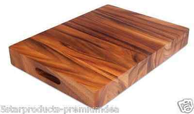 New Ironwood Gourmet The Master Chop Chopping Board Cutting Butcher Block Wood