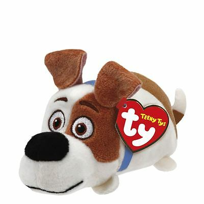Teeny Ty Beanies Secret Life of Pets Max Soft Plush Cuddly Dog Toy New
